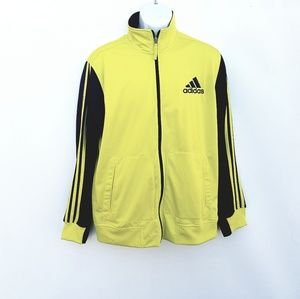 Adidas Climalite Zip Up Jacket Yellow Large Yellow
